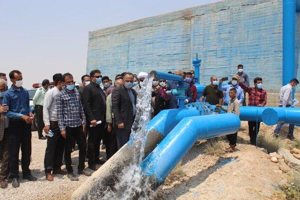 افتتاح خط آبرسانی به حاجی آباد زرین دشت از سد رودبال در استان فارس